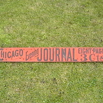 Chicago Evening Journal Sign - Advertising