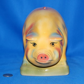 Very Colorful Piggy Bank  - Hull? - Coin Operated