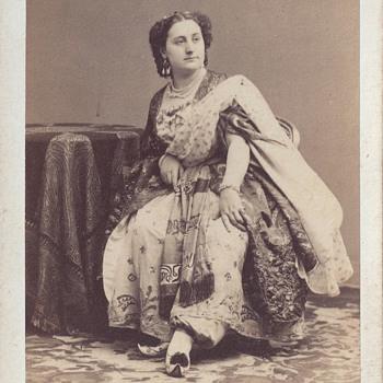 Mademoiselle Moreau of Théâtre Lyrique CDV by Disdéri of Paris, France