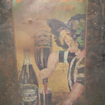 Armour's Grape Juice Tin Sign circa 1910