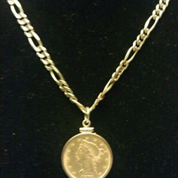 My gold chain with coin - Fine Jewelry
