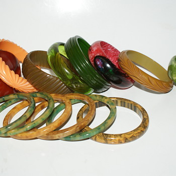 Some of my Bakelite - or maybe not! - Costume Jewelry