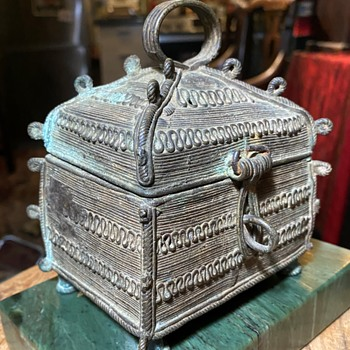 Very Old Dhokra Casket / Chest - Asian