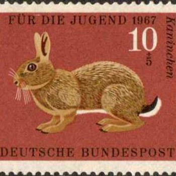 "1967 - W. Germany - ""Animals"" Postage Stamp Series - Stamps"