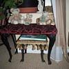Iron leg Vanity bench