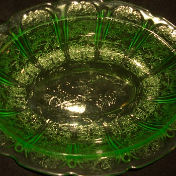 Green Depression Uranium  Glass Collection - Glassware