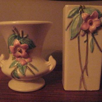 Flowered vases - Pottery
