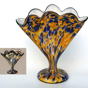 Welz Scalloped Fans - An Important DOCUMENTED Marker Shape - Factory Documentation! - Art Glass