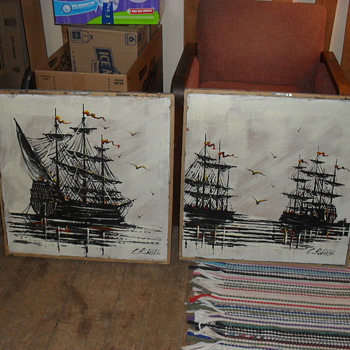 C. Roberts Pirate Ships - Posters and Prints
