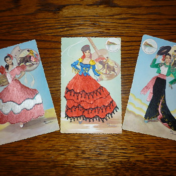 1940's-1950's silk post cards - Postcards