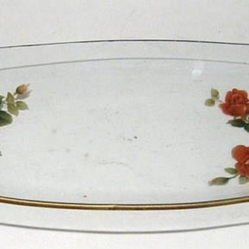 CHANCE GLASS - ENGLAND - RED FLOWERS ( item # 1) - Glassware