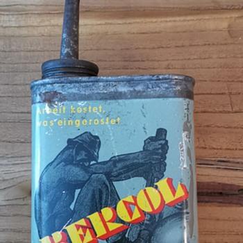Bercol oil canister - Petroliana