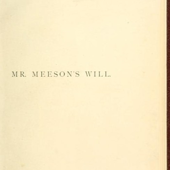 Mr Meeson's Will - Books