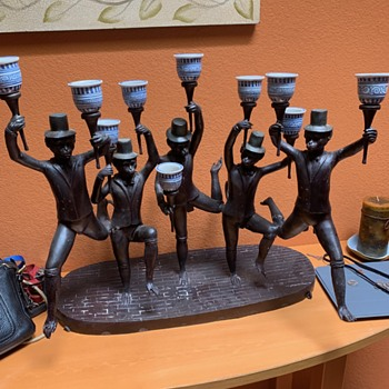 Maitland-Smith Ltd. Bronze and Porcelain Monkey Sculpture - Fine Art