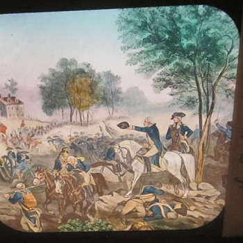 Magic Lantern Slide, The Americans Attack. - Photographs