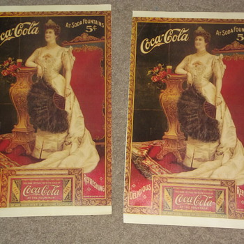 Two older looking prints - Coca-Cola