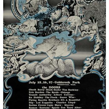Seattle Pops Festival July 25-27 1969 Seattle Area - Gold Creek