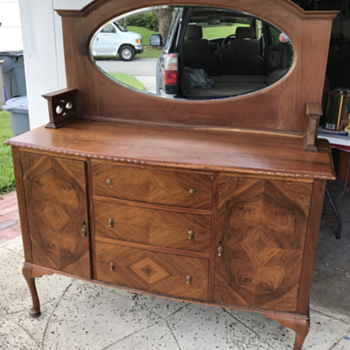 Restored circa  1900 English buffet - Furniture