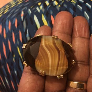 Old Scottish Agate Brooch - Fine Jewelry
