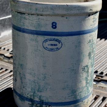 8 gal Crock - The California Pottery Company - Merced - China and Dinnerware