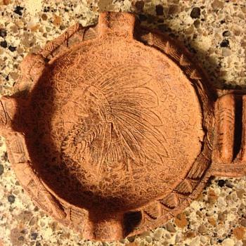 Native American pipestone ashtray antique