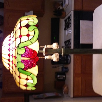 Vintage Brass Lamp And Shade - Lamps
