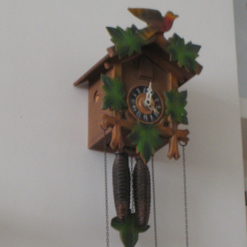 Antique 1950's German Forestall cuckoo clock.