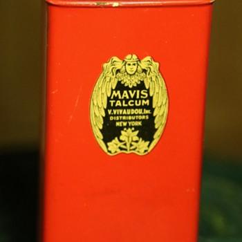 Mavis Talcum Powder Tin Container