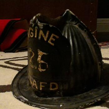 george s pinckney Forkor firefighting helmet, aka grandpa