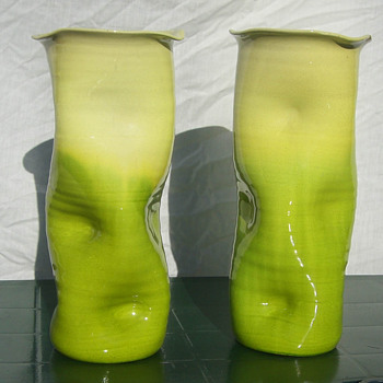 Unusual Bretby Vases - Pottery
