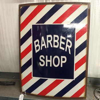 Barber shop sign 1940's - Signs