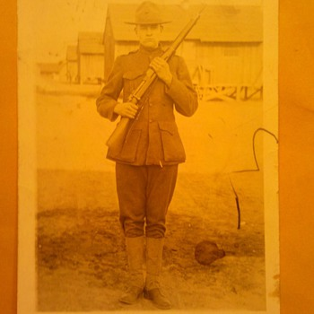 Pre WWI USMC Marine Corps RPPC in Field Greens uniform
