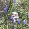 Victorian Welz honeycomb vase with footed base