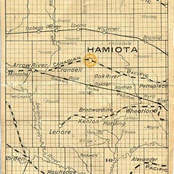 Rail road Map - Railroadiana