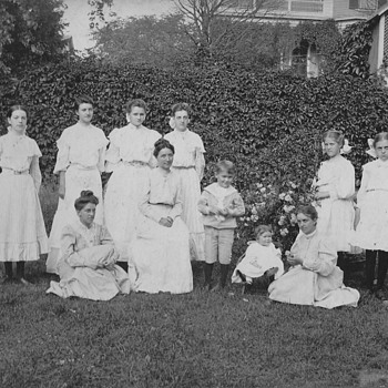 Rebecca Putnam Cook Pickett wedding, he and sisters and great book - Photographs