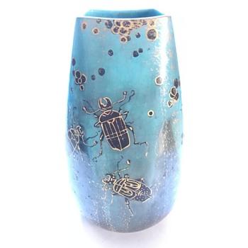 clement massier  &  lucien lévy-dhurmer vase - Art Nouveau