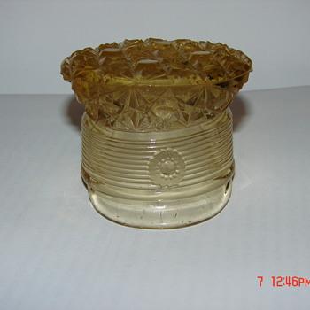 Vintage Unknown Glass Hat - Art Glass
