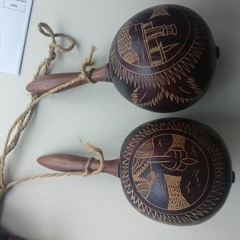 Old Maracas Havana Cuba  - Musical Instruments
