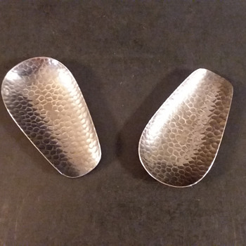 Niigata Prefecture hammered copper chasaji (tea scoops) - Asian