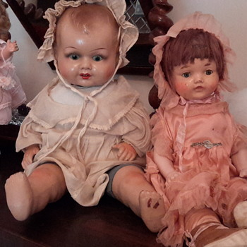 1920s horsman composition doll&1930s Shirley Temple & other antique to vintage dolls - Dolls