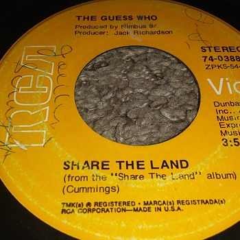 The Guess Who...On 45 RPM Vinyl - Records