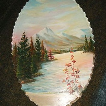 Vintage Reverse Painting -  Picture on GLASS