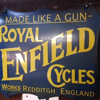 Royal Enfield Enamel Advertising Sign