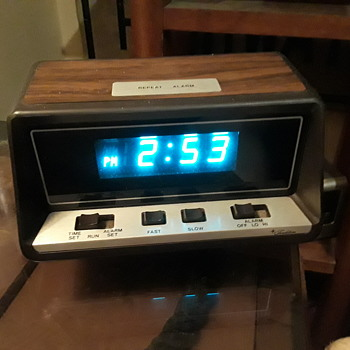 "SEARS ""Tradition"" blue display digital alarm clock - Clocks"