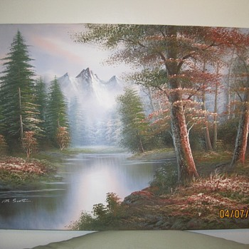 2 M.Scott Raised Relief Paintings