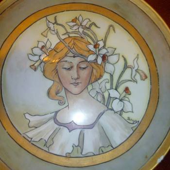 Art Nouveau Limoges Charger?  Value? - China and Dinnerware