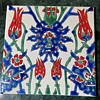 Made in Italy Modern Tile based on an Iznik via William Morris