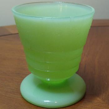 Jadite Footed Tumbler - Glassware