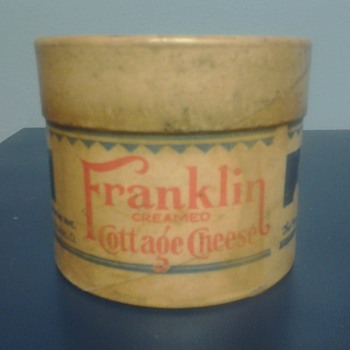 Franklin Creamed Cottage Cheese Container - Advertising