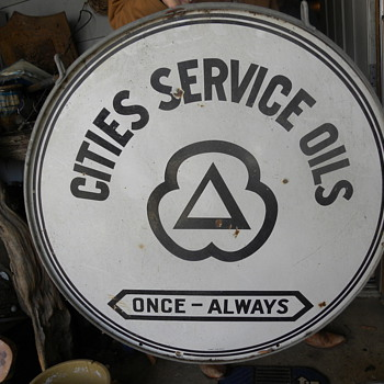 cities  service oil sign